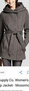 Fleece wrap jacket by mossimo